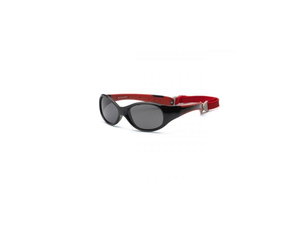 Real Kids Shades Slnečné okuliare Explorer 4r+ - čierno-červené