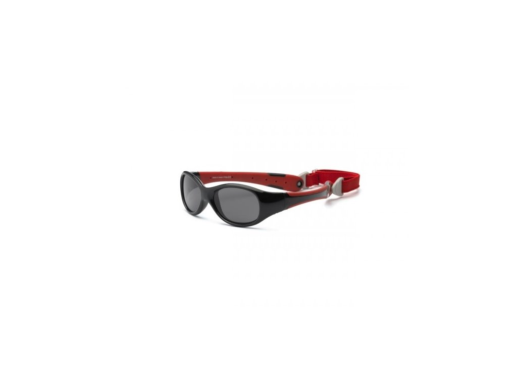 Real Kids Shades Slnečné okuliare Explorer 2r+ - červeno-čierne