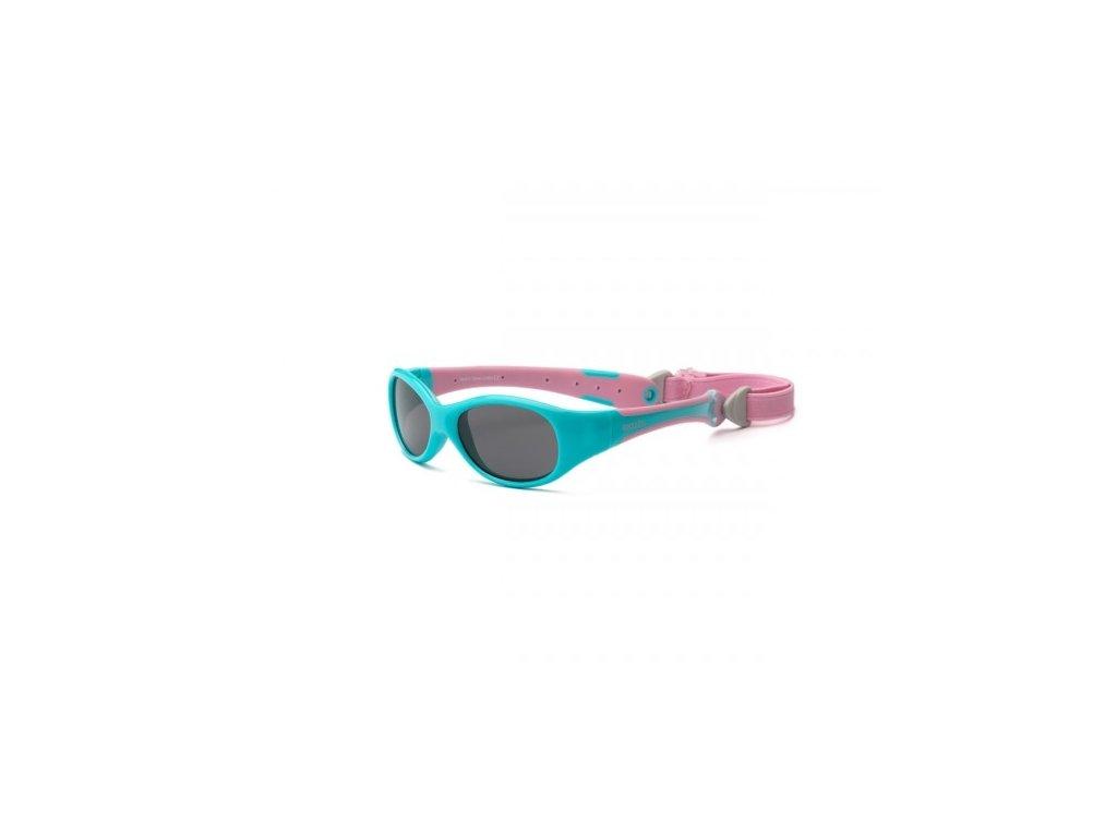 Real Kids Shades Slnečné okuliare Explorer 0r+ - tyrkysovo - ružové