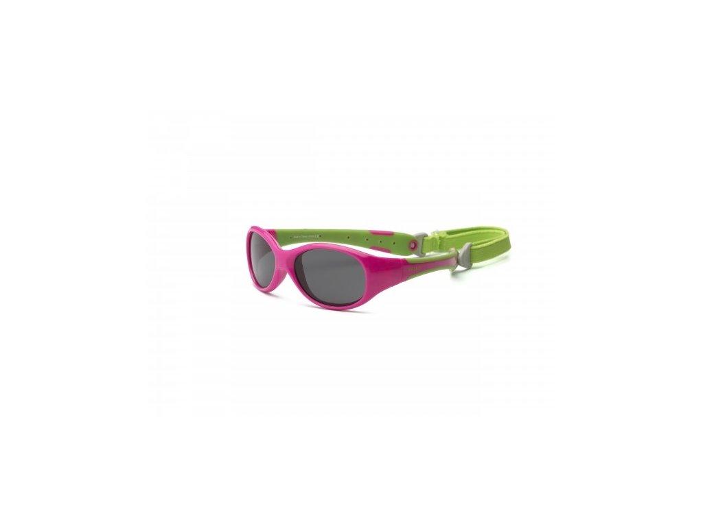 Real Kids Shades Slnečné okuliare Explorer 0r+ -ružovo-zelené