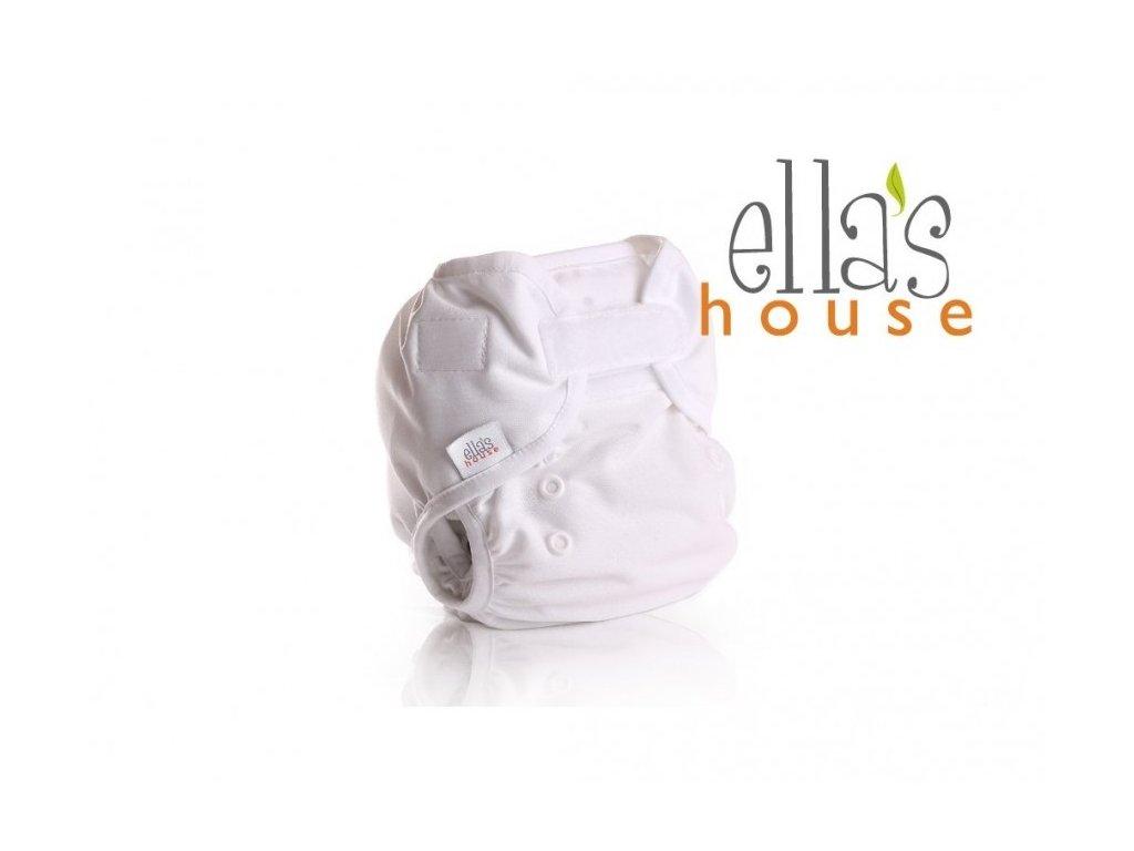 Ella´s house - vrchné nohavičky na plienky - bum wrap - white