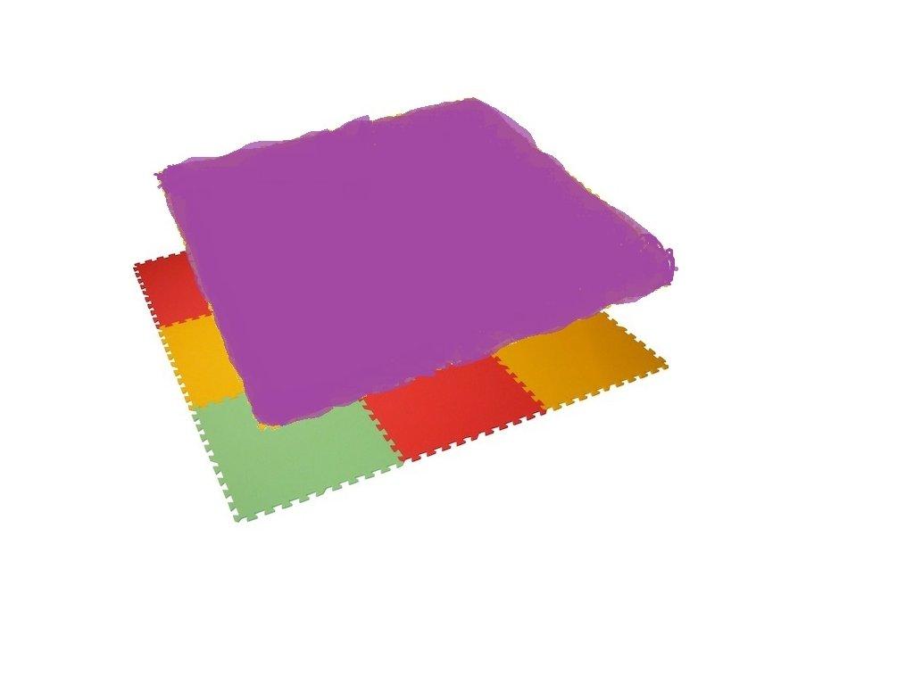 MALÝ GÉNIUS Penový koberec 24 - MAXI - hrubý / Jednofarebný - fialový