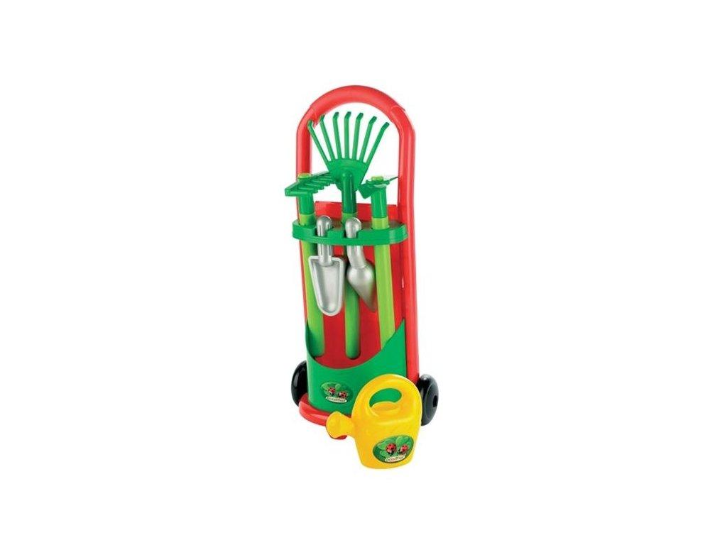 Ecoiffier Záhradný vozík s náradím a krhličkou