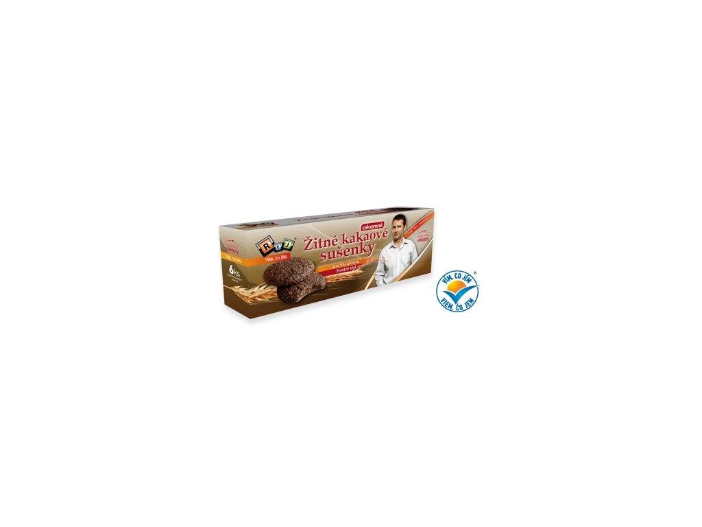 REJ - VIETE, ČO JETE (Ing. Petr Havlíček) SUŠIENKY ražné kakaové - celozrnné (6 x 20 g)