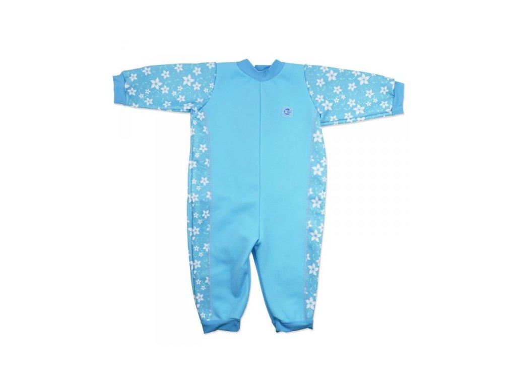 Splash About Baby Neoprén Overal Modré kvietky