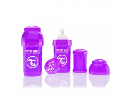 Twistshake Antikoliková fľaša 180ml Purple