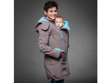 Liliputi Mama kabát - grey-turquoise