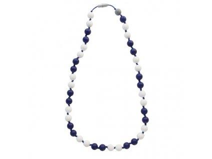 Itzy ritzy Silikónový mama náhrdelník - námornícky