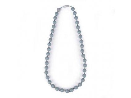 Itzy ritzy Silikónový mama náhrdelník - sivý