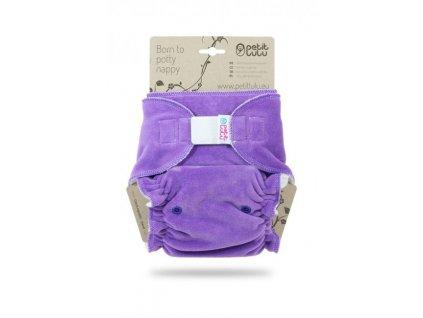 Petit Lulu Maxi / Nočná plienka na suchý zips - fialová