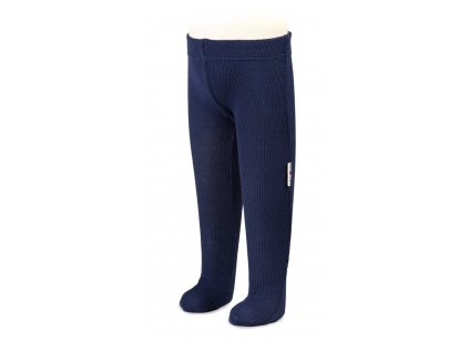 Manymonths Pančuchové nohavice merino 16 - Moonlight Blue 3-6/9m