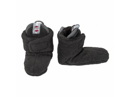 Lodger Capačky Baby Slipper Fleece Botanmial Raven