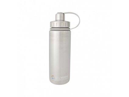 Termo fľaša Eco VESSEL 600 ml so závitom - strieborná