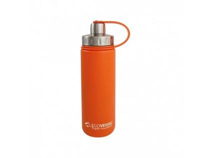 Termo fľaša Eco VESSEL 600 ml so závitom - oranžová