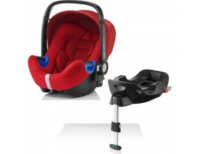 RÖMER Autosedačka BABY-SAFE i-SIZE Bundle Flex - Flame Red