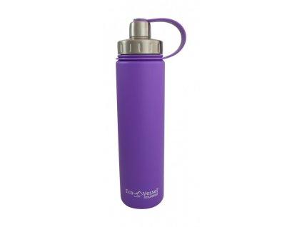 Eco Vessel Termofľaša so závitom 700 ml - fialová