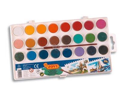 JOVI vodové farby 24 odtieňov + štetec