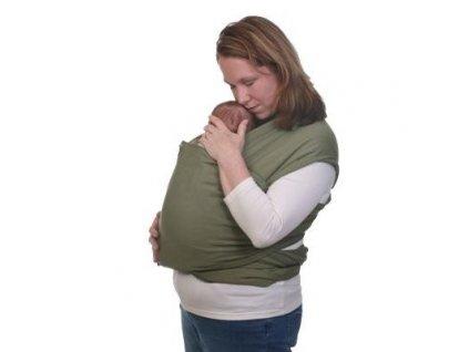 Moby šatka na nosenie detí -standart - olivová