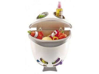 Thermobaby Box na hračky do kúpelne Bubble Fish šedý