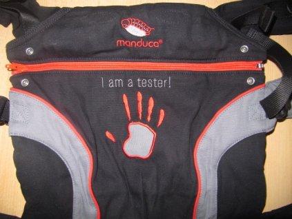 """Manduca """"I am a tester"""" - požičovňa"""