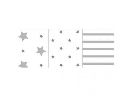 Odenwalder plienky 3ks hviezdy silber