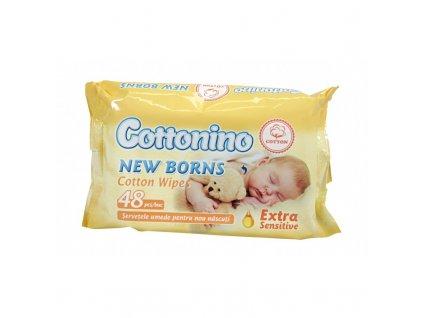 cottonino baby bavlnene detske vlhke utierky 48 ks