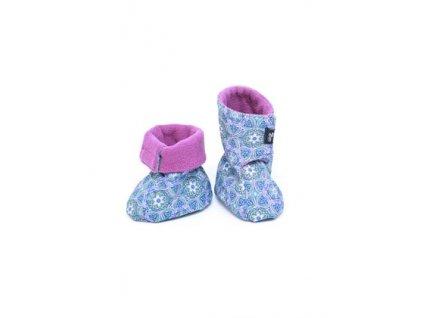 Adelay Softshellové topánky - modrý vzor, 1,5-2r