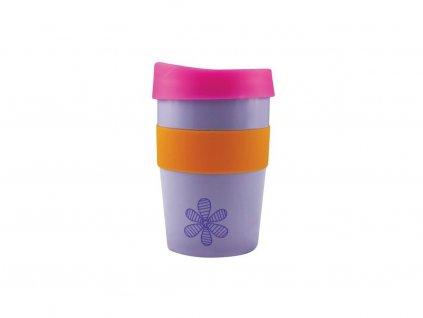 Cheeki Nerezový Termo pohár na kávu 355 ml - Flower