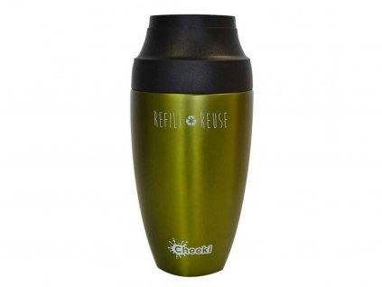 Chekki Cestovný nerezový termohrnček na kávu Olive 350 ml