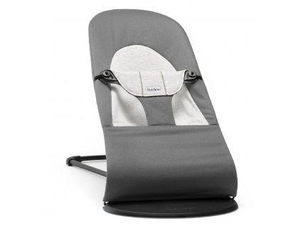 babybjoern balance soft cotton jersey dark grey grey a153557