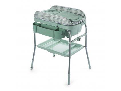 Chicco Prebaľovací stolík s vaničkou Cuddle & Bubble - Eucalyptus