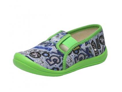 FARE detské papučky zeleno-šedé