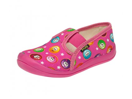 FARE detské papučky ružové smajlíky