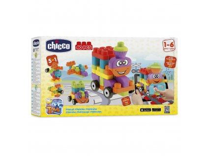 """Chicco Stavebnica """"App Toys"""" 40ks - Dopravné prostriedky"""