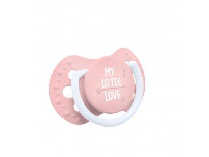 Lovi cumlík my little love 0-2 ružový 2ks