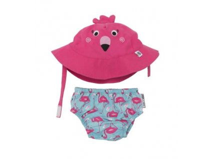 Zoocchini UV set klobúčik a plavky Flamingo