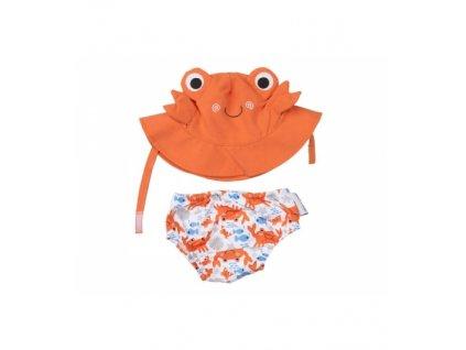 Zoocchini UV set klobúčik a plavky Krab