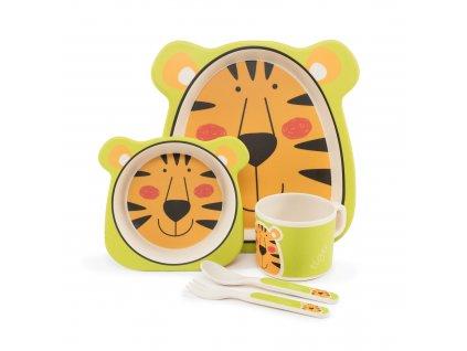 ZOPA bambusová jedálenská sada Tiger