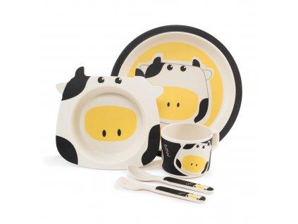 ZOPA Bambusová jedálenská sada, Cow