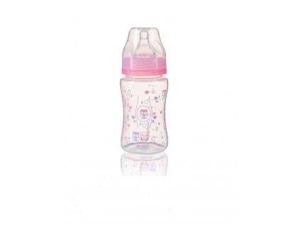 BabyOno Dojčenská antikoliková fľaša široké hrdlo 240 ml