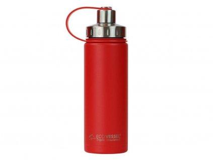 eco vessel 600ml jazz red