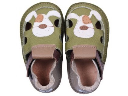 barefoot kids sandals smiley puppy 113 2