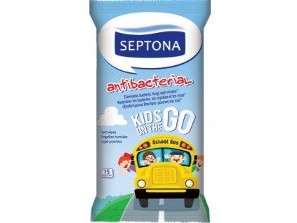 septona detske antibakterialne vlhke utierky na ruky 15 ks