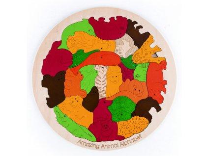 hape george luck amazing animal alphabet puzzle hape