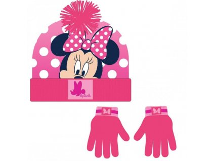 Zimný set - čiapka s rukavicami Minnie
