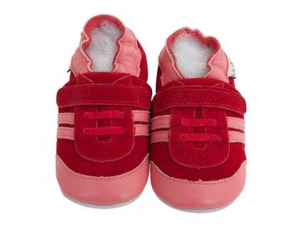 lait et miel chaussons cuir baskets rouges 2 3 ans