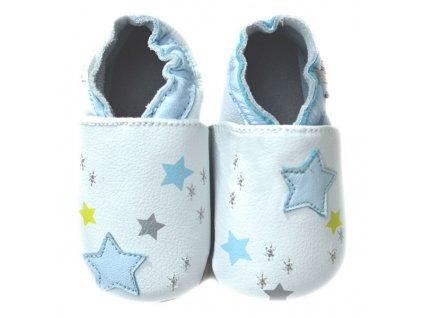 lait et miel chaussons cuir bebe ciel polaire 0 24 mois
