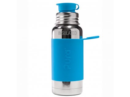 Pura termo flasa so sportovym uzaverom 475ml aqua