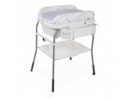 Prebaľovací stolík s vaničkou Cuddle & Bubble - Cool Grey