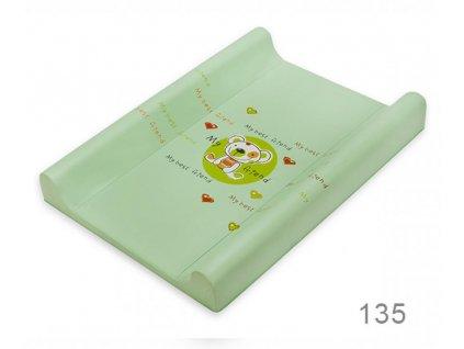Podložka prebaľovacia DINO tvrdá 80 cm Medveď zelená